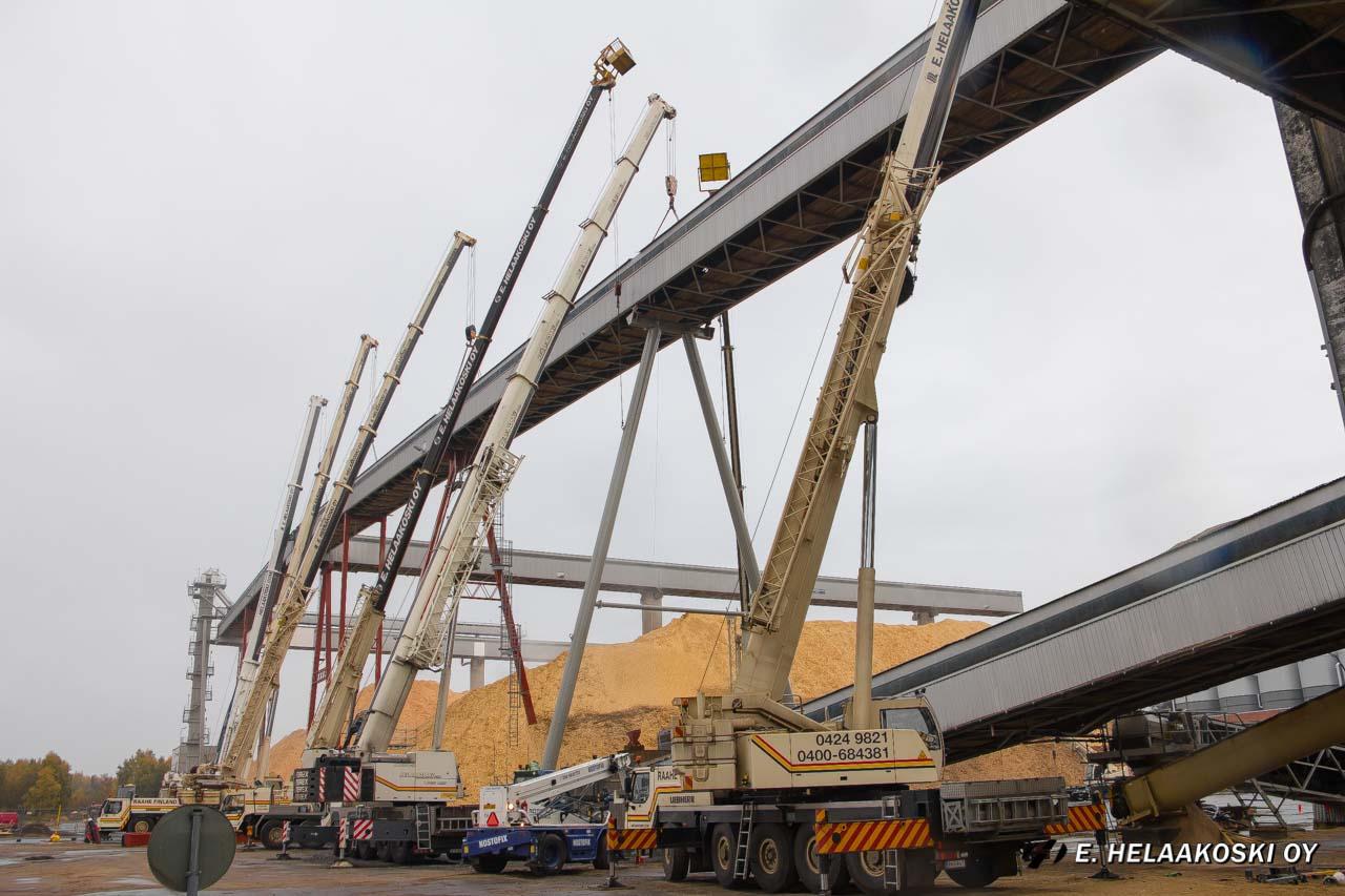 Kuljettimen nosto UPM Pietarsaari